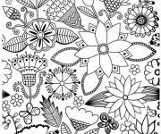 Coloriage et dessins gratuit Adulte Anti-stress 3 à imprimer