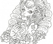 Coloriage et dessins gratuit Adulte Difficile 16 à imprimer