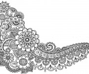 Coloriage et dessins gratuit Adulte Feuilles et Fleurs à imprimer
