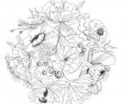 Coloriage et dessins gratuit Adulte Fleurs 1 à imprimer