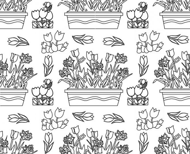 Coloriage et dessins gratuits Adulte Fleurs au  Jardin à imprimer