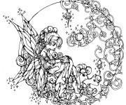Coloriage et dessins gratuit Adulte mandala Fille Difficile à imprimer