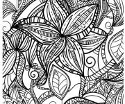 Coloriage et dessins gratuit Anti-Stress fleur à imprimer