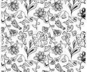 Coloriage et dessins gratuit Des Fleurs magnifiques en printemps à imprimer