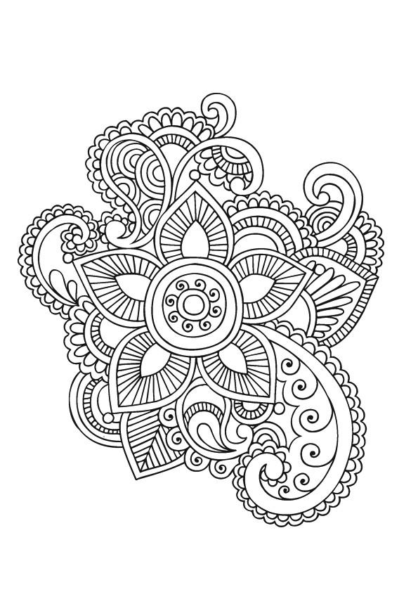 Coloriage et dessins gratuits Fleur artistique Adulte à imprimer