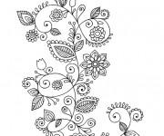 Coloriage et dessins gratuit Fleurs adulte à décorer à imprimer
