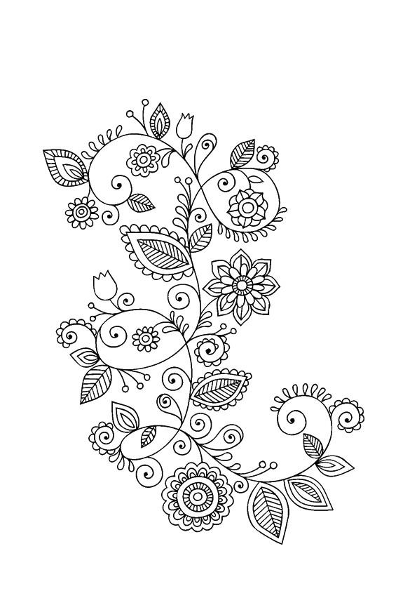 Coloriage et dessins gratuits Fleurs adulte à décorer à imprimer