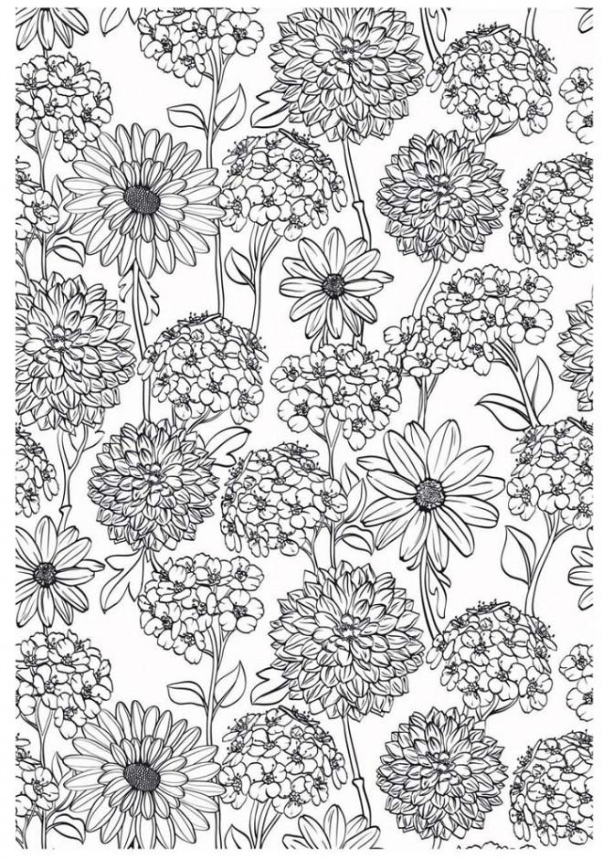 Coloriage et dessins gratuits Fleurs et Champs à imprimer