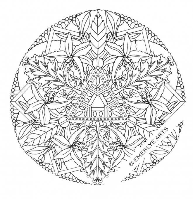 Coloriage et dessins gratuits Fleurs Mandala  adulte à imprimer