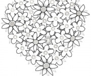 Coloriage et dessins gratuit Fleurs Saint-Valentin à imprimer
