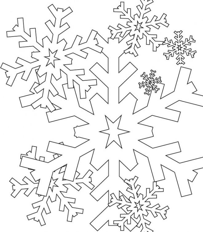 Coloriage et dessins gratuits Flocon de Neige à colorier à imprimer