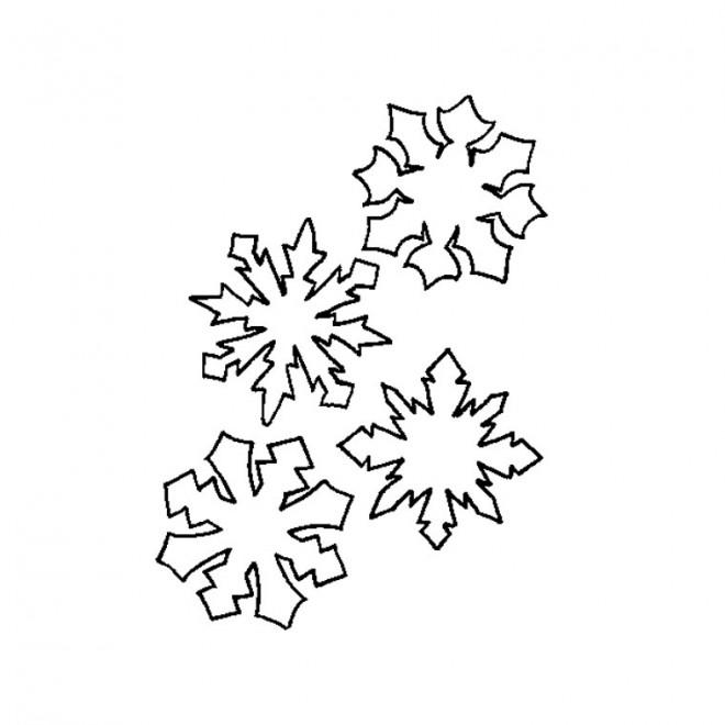 Coloriage et dessins gratuits Flocon de Neige couleur à imprimer