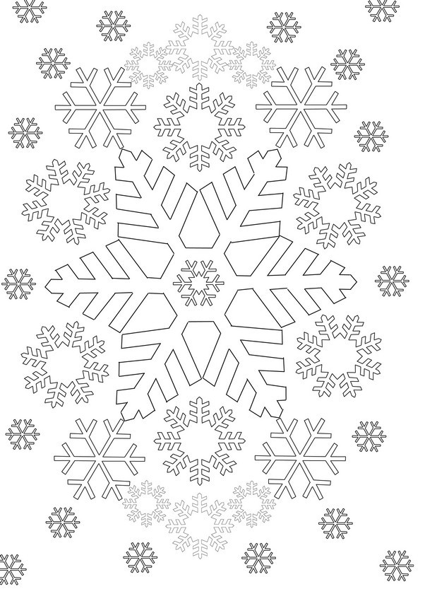 ausmalbild winterlandschaft