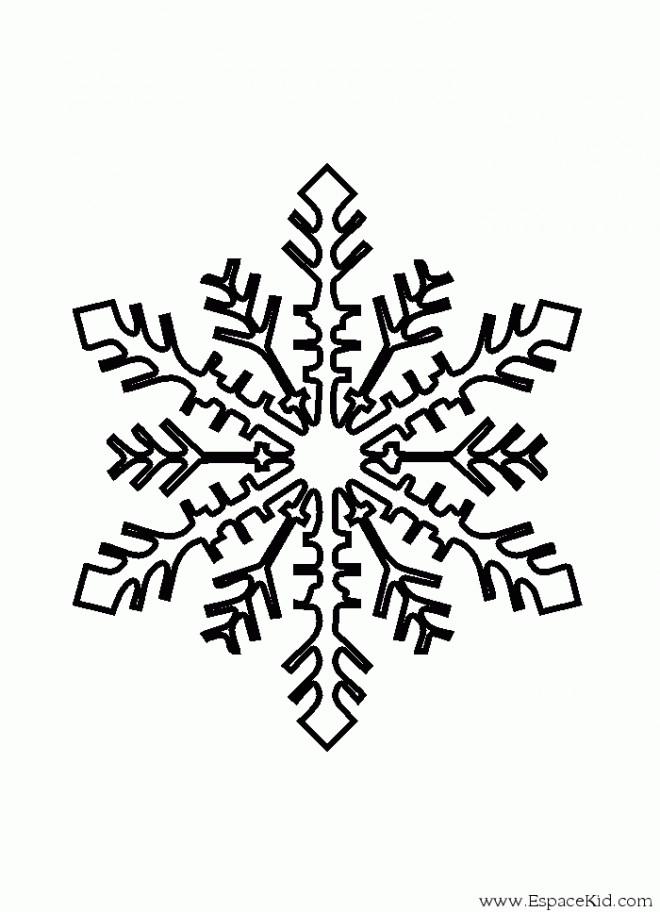 Coloriage flocon de neige 12 dessin gratuit imprimer - Comment dessiner un flocon de neige facile ...
