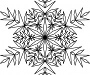 Coloriage Flocon de Neige 16