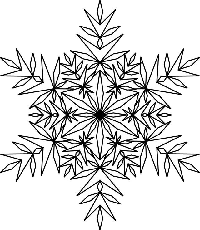 Coloriage et dessins gratuits Flocon de Neige 16 à imprimer