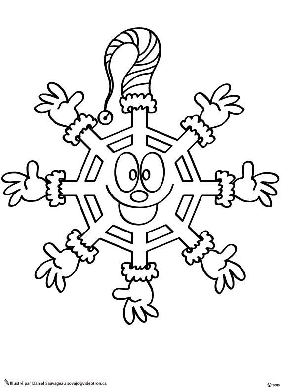Coloriage et dessins gratuits Flocon de Neige 20 à imprimer