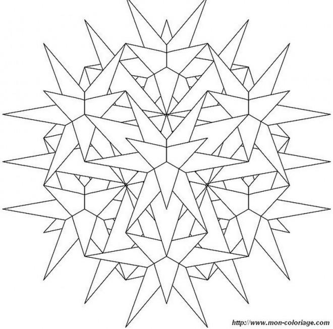 Coloriage et dessins gratuits Flocon de Neige 21 à imprimer