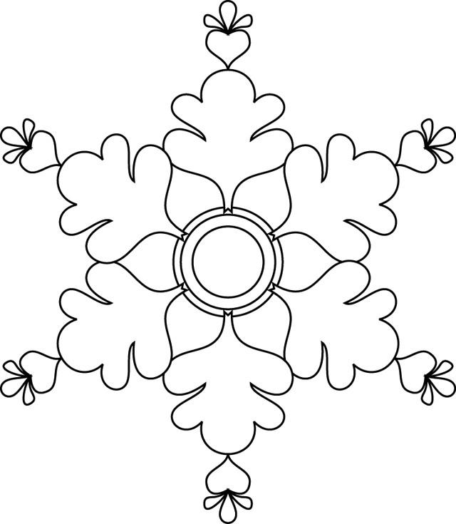 Coloriage flocon de neige 27 dessin gratuit imprimer - Dessiner un flocon de neige ...