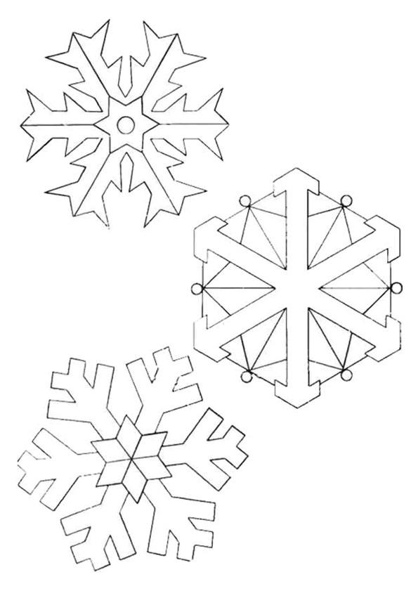 Coloriage et dessins gratuits Flocon de Neige 28 à imprimer