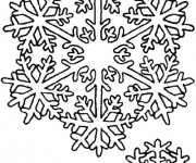 Coloriage Flocon de Neige 34