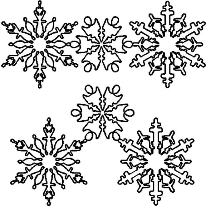 Coloriage et dessins gratuits Flocon de Neige 41 à imprimer