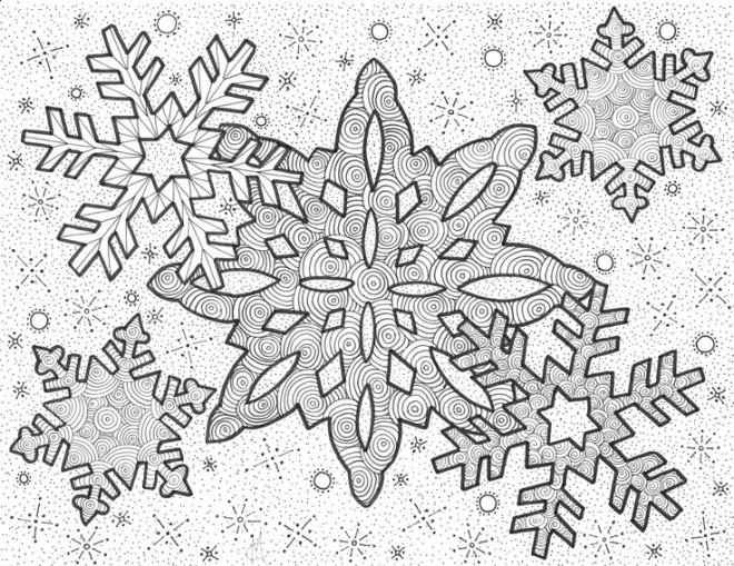 Coloriage et dessins gratuits Flocon de Neige 48 à imprimer
