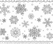 Coloriage Flocon de Neige 5