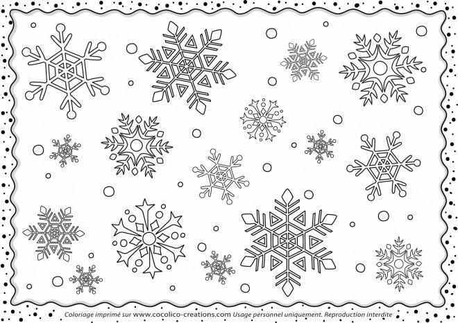 Coloriage et dessins gratuits Flocon de Neige 5 à imprimer