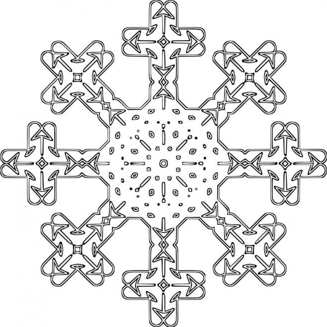 Coloriage et dessins gratuits Flocon de Neige 53 à imprimer