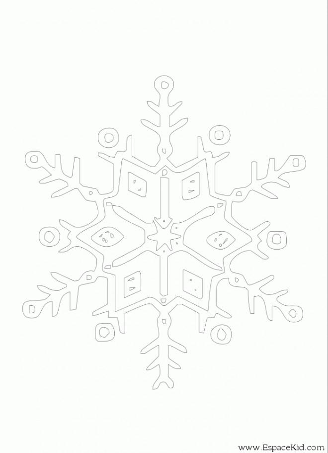 Coloriage et dessins gratuits Flocon de Neige 54 à imprimer