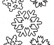 Coloriage Flocon de Neige à décorer
