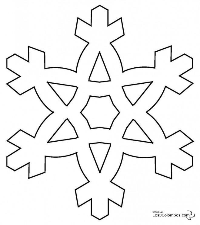 Coloriage flocon de neige d couper - Gabarit flocon de neige a decouper ...