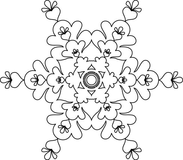 Coloriage flocon de neige artistique dessin gratuit imprimer - Dessin flocon de neige facile ...