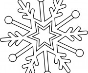 Coloriage Flocon de Neige facile