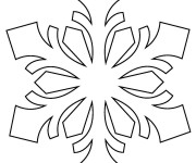 Coloriage Flocon de Neige mandala