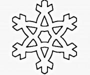 Coloriage Flocon de Neige pour enfant
