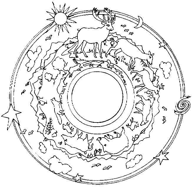 Coloriage et dessins gratuits Forêt Mandala à imprimer