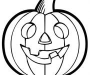 Coloriage et dessins gratuit Citrouille d'Halloween à imprimer