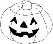 Coloriage Citrouille d'Halloween à découper