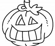 Coloriage Citrouille d'halloween amusante