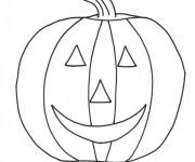 Coloriage et dessins gratuit Citrouille d'Halloween au crayon à imprimer