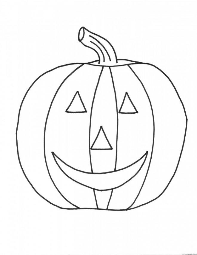 Coloriage Citrouille D Halloween Au Crayon Dessin Gratuit à