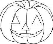 Coloriage et dessins gratuit Citrouille d'Halloween en couleur à imprimer