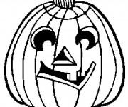 Coloriage Citrouille d'Halloween en noir