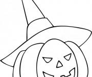 Coloriage et dessins gratuit Citrouille d'Halloween enfant à imprimer