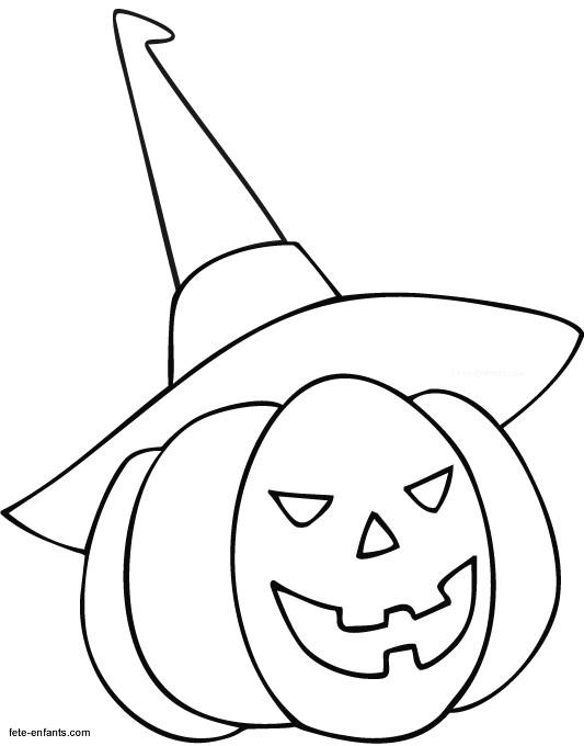 Coloriage et dessins gratuits Citrouille d'Halloween enfant à imprimer