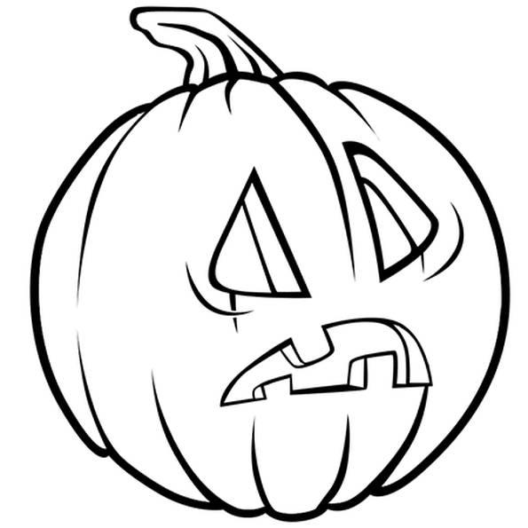 Coloriage et dessins gratuits Citrouille d'Halloween étonnée à imprimer