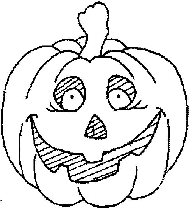 Coloriage Citrouille d'Halloween Horreur dessin gratuit à imprimer