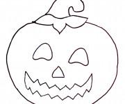 Coloriage et dessins gratuit Citrouille d'Halloween maternelle à imprimer